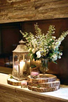 Romantic christmas tree wedding centerpieces ideas 17