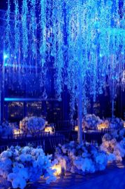 Romantic christmas tree wedding centerpieces ideas 24