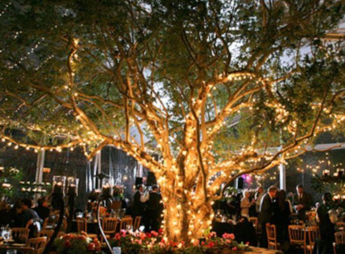Romantic christmas tree wedding centerpieces ideas 26