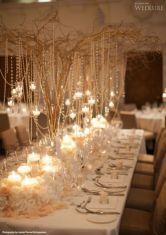 Romantic christmas tree wedding centerpieces ideas 28