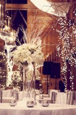 Romantic christmas tree wedding centerpieces ideas 29