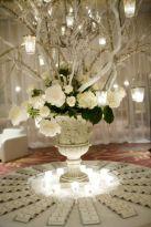 Romantic christmas tree wedding centerpieces ideas 30