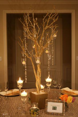 Romantic christmas tree wedding centerpieces ideas 33