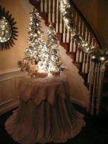 Romantic christmas tree wedding centerpieces ideas 36