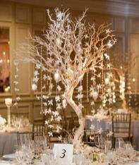 Romantic christmas tree wedding centerpieces ideas 37