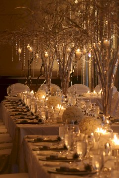 Romantic winter vintage wedding decoration ideas (6)