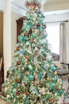 Stunning gold christmas tree decoration ideas 16