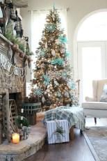 Stunning gold christmas tree decoration ideas 21