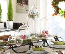 Stylish christmas centerpieces ideas with ornaments 02