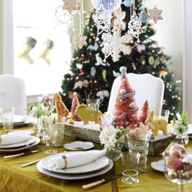 Stylish christmas centerpieces ideas with ornaments 08