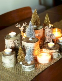 Stylish christmas centerpieces ideas with ornaments 21