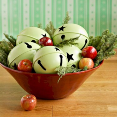Stylish christmas centerpieces ideas with ornaments 27