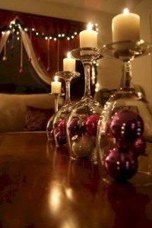 Stylish christmas centerpieces ideas with ornaments 30