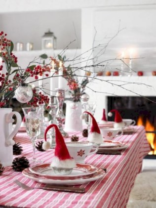 Stylish christmas centerpieces ideas with ornaments 34