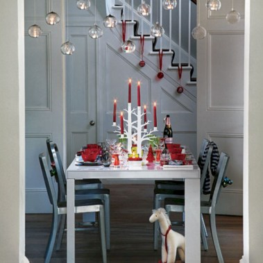 Stylish christmas centerpieces ideas with ornaments 37
