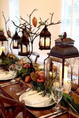 Stylish christmas centerpieces ideas with ornaments 38