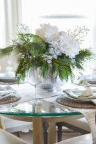 Totally adorable white christmas floral centerpieces ideas 21