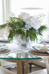 Totally adorable white christmas floral centerpieces ideas 21