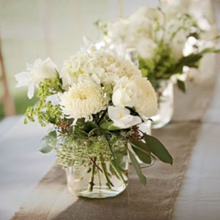 Totally adorable white christmas floral centerpieces ideas 39