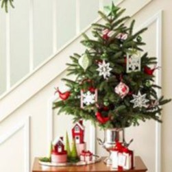 Totally inspiring small christmas tree decoration ideas for space saving 21
