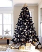 Unusual black christmas tree decoration ideas 02