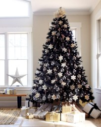Unusual black christmas tree decoration ideas 02