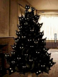 Unusual black christmas tree decoration ideas 14