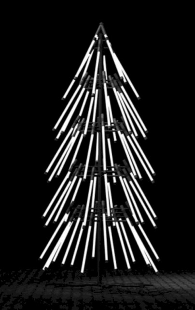 Unusual black christmas tree decoration ideas 20