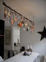 Adorable christmas chandelier decoration ideas 21