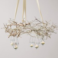 Adorable christmas chandelier decoration ideas 34