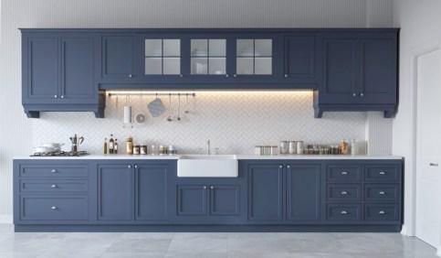 Adorable grey and white kitchens design ideas 14