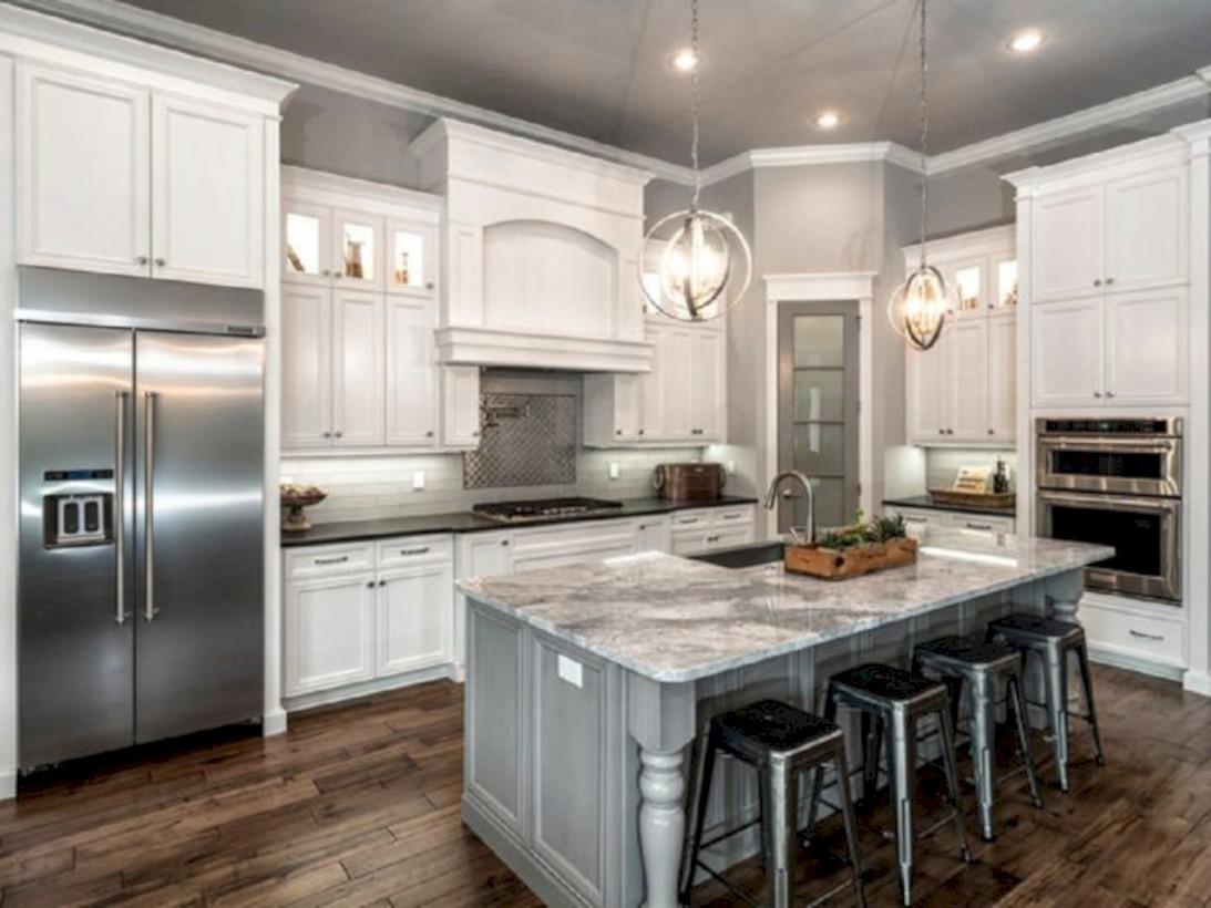 40 Adorable Grey And White Kitchens Design Ideas