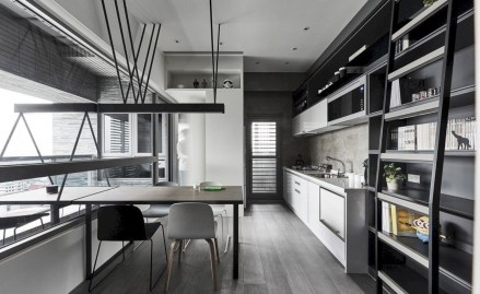 Adorable grey and white kitchens design ideas 38