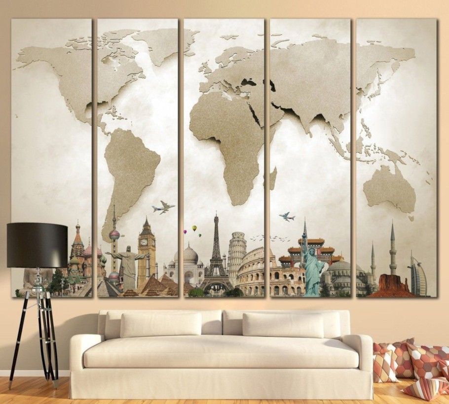 45 Awesome Large Wall Art Inspiration Ideas For Your Living Rooms