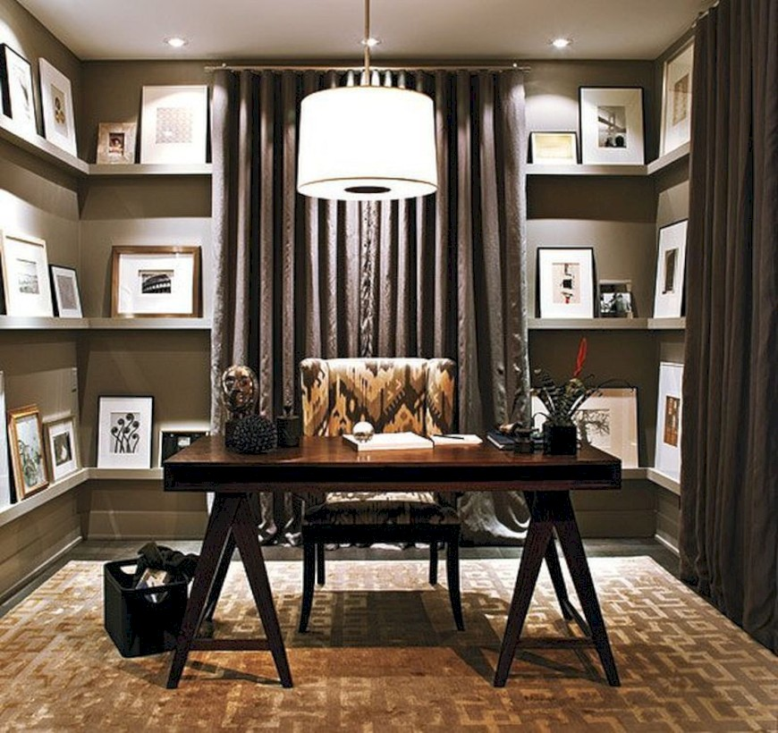 Awesome Rustic Home Office Designs Ideas 01