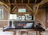 Awesome rustic home office designs ideas 10