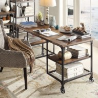 Awesome rustic home office designs ideas 14