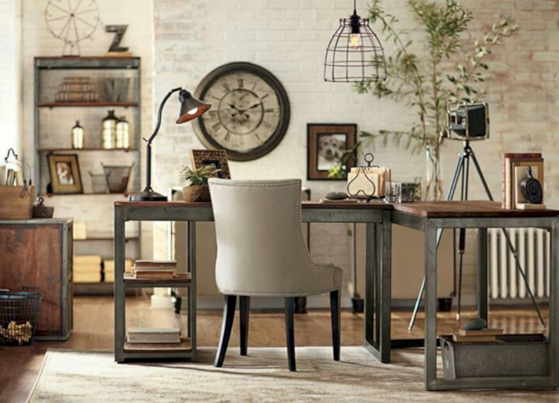 49 Awesome Rustic Home Office Designs Ideas