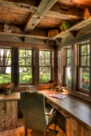 Awesome rustic home office designs ideas 42
