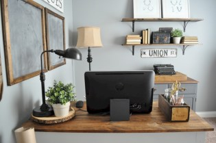 Charming vintage home office decoration ideas 09