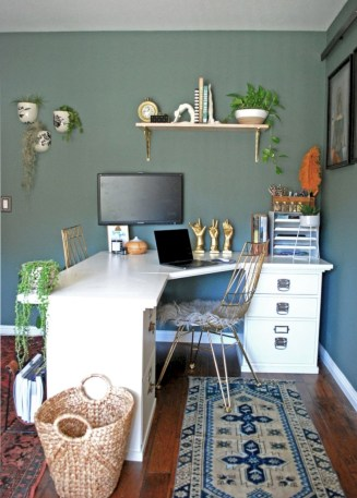 Charming vintage home office decoration ideas 17