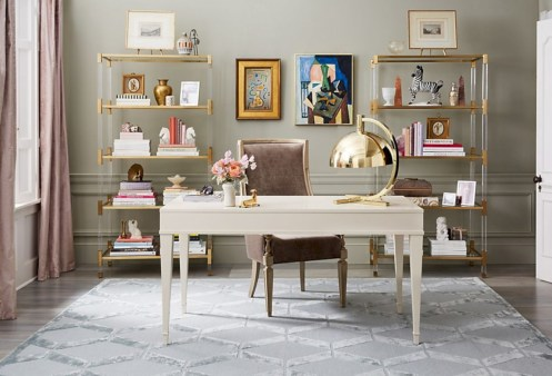 Charming vintage home office decoration ideas 18