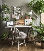 Charming vintage home office decoration ideas 20
