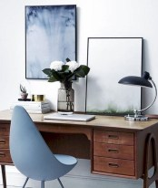 Charming vintage home office decoration ideas 23