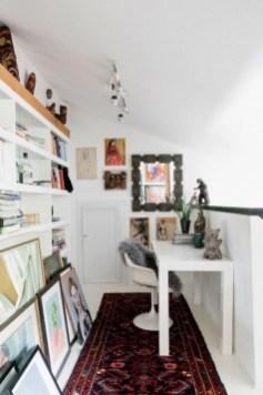 Charming vintage home office decoration ideas 25