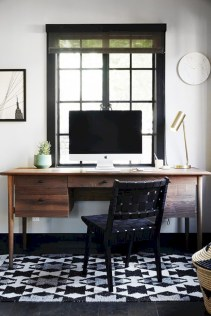 Charming vintage home office decoration ideas 37