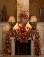 Cool christmas fireplace mantel decoration ideas 03