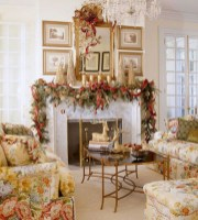 Cool christmas fireplace mantel decoration ideas 05