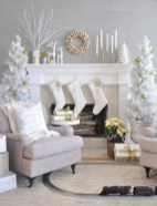 Cool christmas fireplace mantel decoration ideas 13