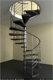 Cool space saving staircase designs ideas 27